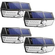 LITOM 30 LED Solar Lights Outdoor, Enhanced IP67 Waterproof Wireless Solar Motion Sensor Lights(White Light), 270°Wide Angle, Easy-to-Install Security Lights for Front Door, Yard, Garage, Deck, 4 Pack