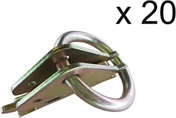 Swiky 10x Etrack Ring Tie Down Anchor E Track Hook Tie Down Rings Cargo Heavy Duty Tie Downs Anchors E-Track O Ring for Van Etrack Fittings Tie-Down Rings