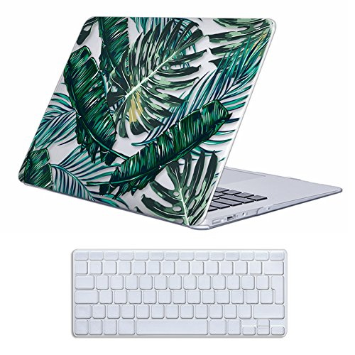 MacBook Air 13 Case , iCasso Palm Tree Pattern Ultra Slim Plastic Frosted...