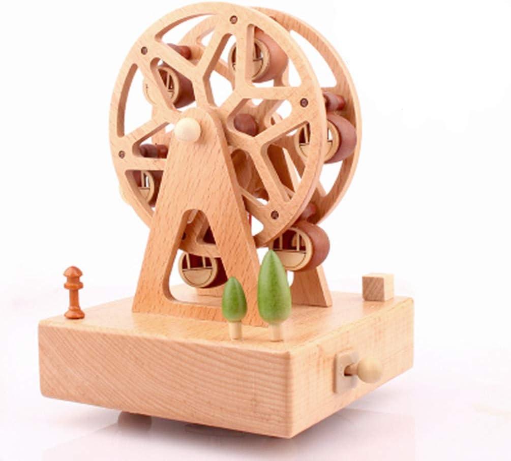Ideale Come Regalo di Compleanno Carillon Decorativo a Forma di Gatto in Pizzo Carillon in Legno Yhpont