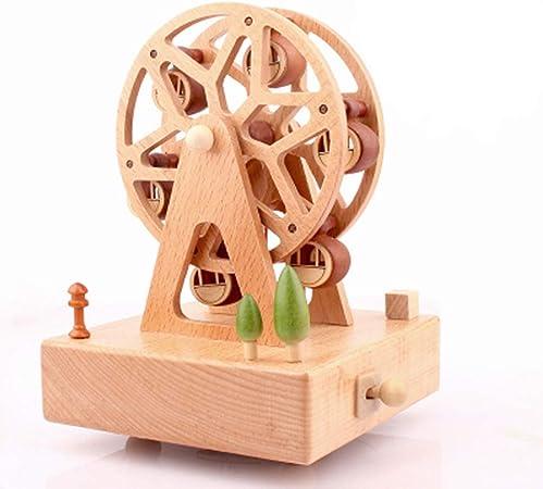 Sólido de madera cajas de música Carrusel caja de música caja ...