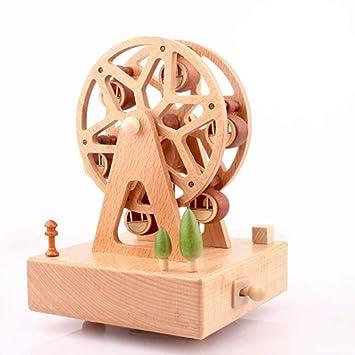 Sólido de madera cajas de música Carrusel caja de música caja Musical de tiovivo Navidad regalos
