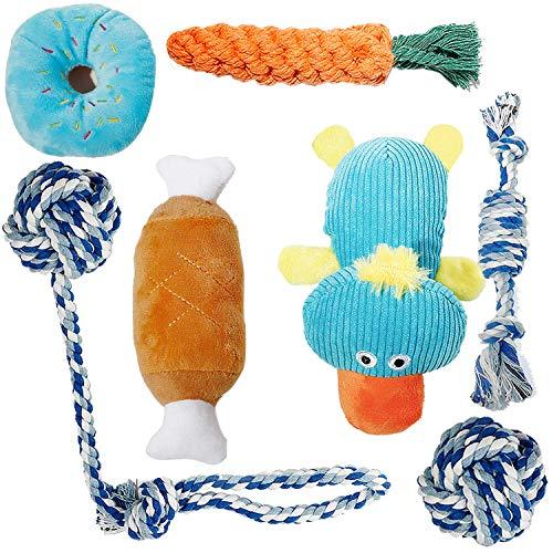 Toozey Welpenspielzeug – 7er Pack Dauerhaft Hundespielzeug für Welpe/Kleine Hunde. Welpen Zahnen Spielzeug Hund Seil…