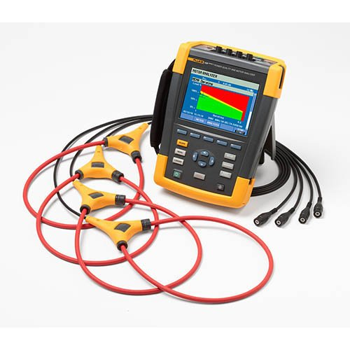 Power Three Quality Phase Analyzer - Fluke 438-II Three-Phase Power Quality and Motor Analyzer with iFlex Probes