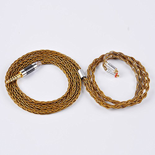 8 Core Pure Silver Balanced Earphone Cable MMCX in Ear Monitor Cable, 7N Upgrade HiFi IEM Audio 4 Pole Cable Replacement Earphone Cable Audio Wire (MMCX Connector, 4.4MM Audio Jack) by KINBOOFI (Image #3)