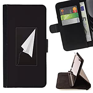 Jordan Colourful Shop - plane black freedom minimalist For Apple Iphone 6 PLUS 5.5 - Leather Case Absorci???¡¯???€????€????????