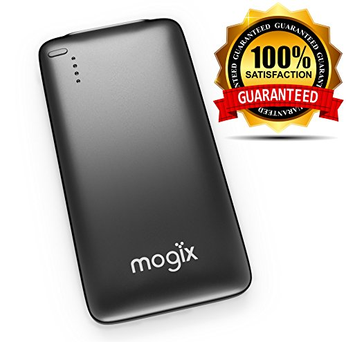 Mogix Cell Phone Portable Charger – Slim Lightweight 5000mAh External Battery – Smart Universal Fast Charging 2.5A Power Bank (Black)