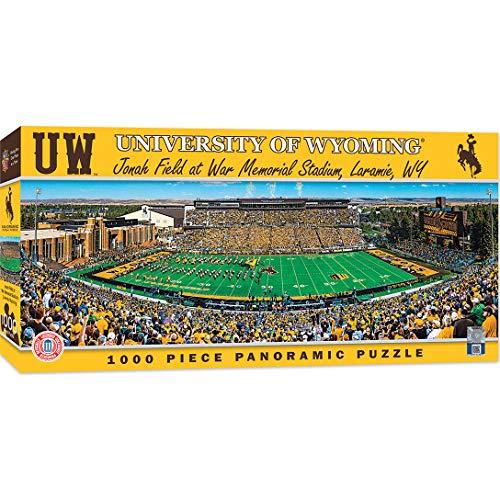 MasterPieces NCAA Wyoming Cowboys 1000 Piece Stadium Panoramic Jigsaw Puzzle (Jigsaw Rug)