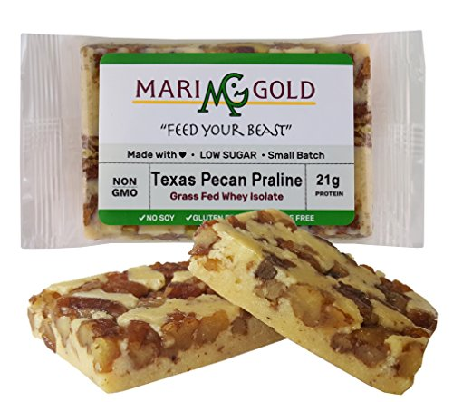 MariGold GRASS FED Whey Protein Bars Sampler Pack- 21+gm Protein, Even LOWER Sugar, Non GMO, Amazing Taste - Made Fresh, Ships Fresh. Purest Ingredients (12) by MariGold Bars (Image #2)