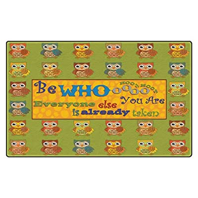 "Flagship Carpets FE271-32A ""Be Whoooo You Are"" Rug"
