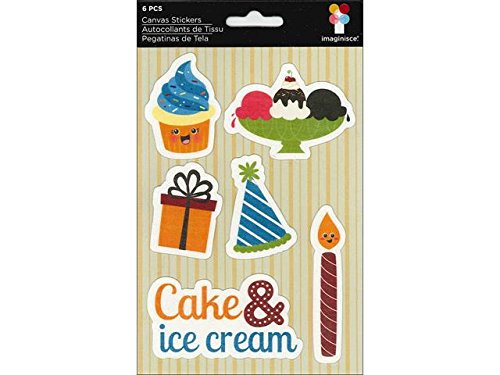 Imaginisce HC003945 Hello, Cupcake Canvas Stickers 4.75 in. x 7 in.-Cake and Ice Cream from Imaginisce