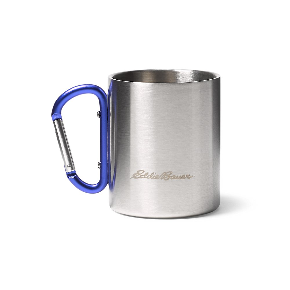 Eddie Bauer double-wall Cup w /カラビナ ONESZE Regular ブルー B074KGDC85