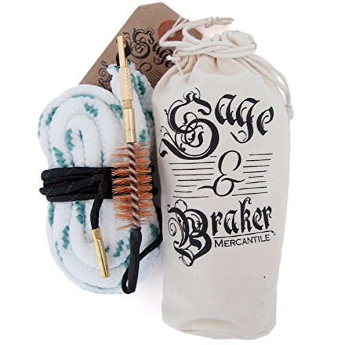 GUN CLEANING KITS by Sage & Braker. Detachable bronze brush makes for the fastest, cleanest and easiest way to clean your shotgun, rifle and handgun's bore. (12 Gauge)