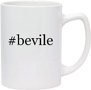 #bevile - 14oz Hashtag White Ceramic Statesman Coffee Mug
