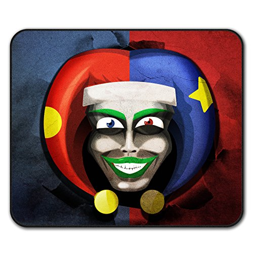 Smiling Scary Clown Joker Laugh Non-Slip Mouse Mat Pad 10