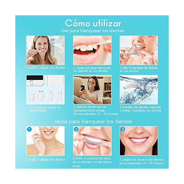 Kit de Blanqueamiento Dental Gel 5PCS ifanze Blanqueamiento de Dientes Luz*1, Blanqueador Dientes Tiras*3, Blanqueador… 7