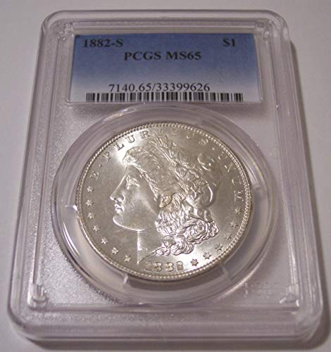1882 S Morgan Silver Dollar MS65 PCGS