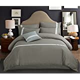 BEIRU Active Cotton Four-piece Twill Cotton Bed Linen Quilt Solid Striped Bedding Simple Spring And Summer ZXCV (Color : Green, Size : 220240cm)
