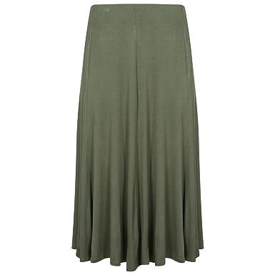 RPEAL - Falda - Manga Larga - para mujer verde caqui 54-56: Amazon ...
