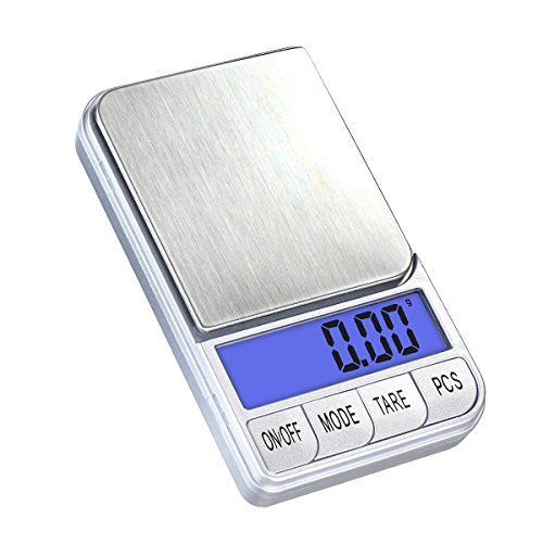 TBBSC Smart Weigh Digital Scale,High Precision Pocket Scale,Jewelry and Gems Scale (Silver-500g/0.01g)