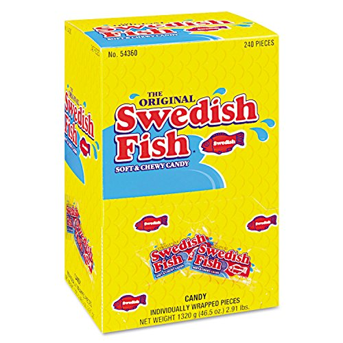 Swedish Fish Soft & Chewy Bulk Red Candy - 240 Individually Wrapped Pack for Christmas Holiday