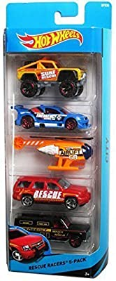 Hot Wheels City Rescue Racers 5 Pack by Hot Wheels: Amazon.es ...