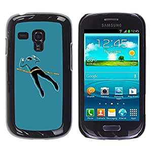 Be Good Phone Accessory // Dura Cáscara cubierta Protectora Caso Carcasa Funda de Protección para Samsung Galaxy S3 MINI NOT REGULAR! I8190 I8190N // Funny Crime Scene Body