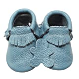 YIHAKIDS Baby Tassel Shoes Soft Leather Sole Infant