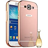 S3 Case,SALER LEE Ultra-thin Luxury Aluminum Metal Bumper Mirror PC Back Case Cover for Samsung Galaxy S3 I9300 Rose