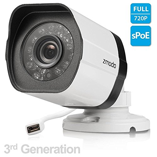 Zmodo 720p 3rd Generation sPoE Camera with Female Micro USB Connection