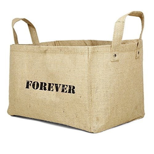 Wicker Pet Bicycle Basket (Jute Basket , Small Natural Laundry Basket comes in FAITH LOVE JOY DREAM LIVE SHARE PEACE FOREVER)