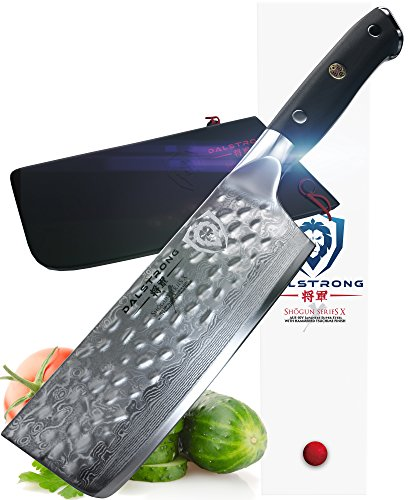 DALSTRONG Nakiri Vegetable Knife - Shogun Series X - VG10 - Hammered Finish - 6'' (152mm) by Dalstrong