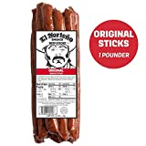 Original Bulk Beef Sticks - One Pounder Beef Jerky Sticks by El Norteño - Low Carb, Low Sugar Smoked Meat Sticks Proudly Made in the USA (16 - 1oz Snack Sticks)