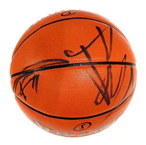 Tim Duncan and Tony Parker San Antonio Spurs Signed Autographed Spalding NBA Game Ball Series Basketball COA