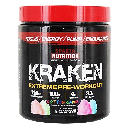 Sparta Nutrition Kraken Extreme Pre-Workout Cotton Candy 11 29 oz 320 g