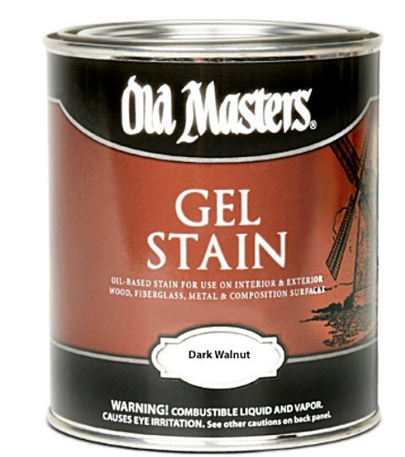 Old Masters #80701 Gel Stain ~ Dark Walnut ~ Gallon (Walnut Gallon)