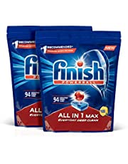 Finish Powerball All In 1 Max Dishwasher Tablets Lemon 188 Pack, 3.2 Kilograms