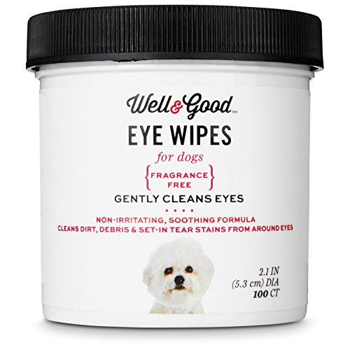 Well & Good Dog Eye Wipes, Pack of 100 wipes