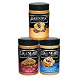 Legendary Foods Keto Nut Butters – No Added Sugar or Artificial Flavors, Vegan, Paleo, Gluten Free, Variety Pack – Blueberry Cinnamon Bun, Pecan Pie, Peanut Butter Chocolate Chip (16oz 3 pack) For Sale