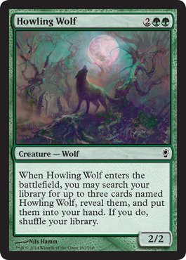 Magic: the Gathering - Howling Wolf - (Howling Wolf Wolf)