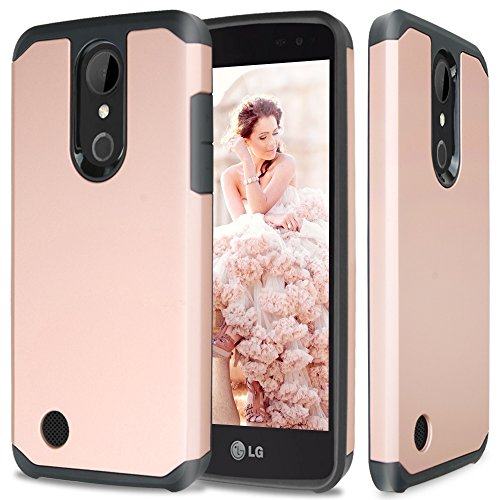 LG K20 Plus Case, LG K20 V Case, LG Harmony Case, LG Grace 4G LTE Case, TJS Ultra Thin Slim Hybrid Shockproof Impact Rugged Case Armor Cover For LG K20 Plus/Harmony/K20 V/Grace 4G LTE (Rose Gold)