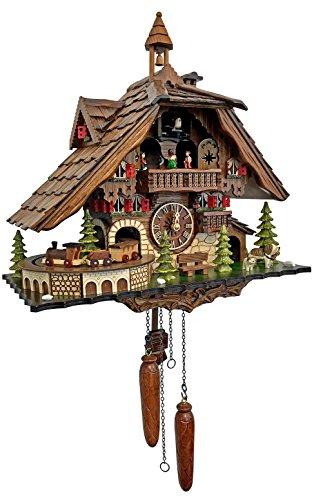 Alexander Taron Decorative Collectibles 48110QMT - Engstler Battery-operated Cuckoo Clock - Full - Cuckoo Battery Clock