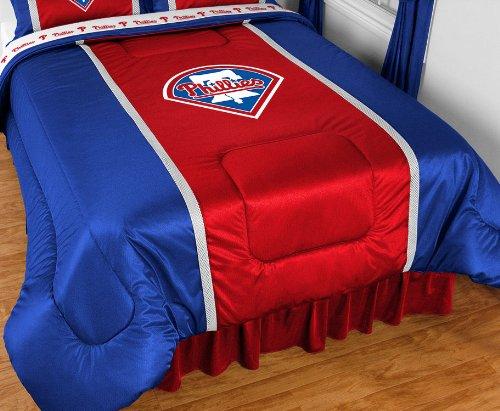 Bundle-98 MLB Sidelines Comforter Team: Philadelphia Phillies, Size: (Sidelines Twin Comforter)