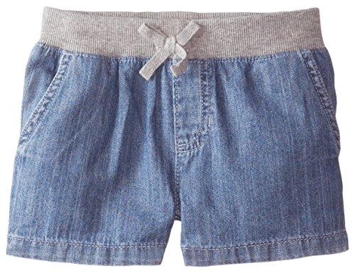 The Children's Place Little Girls' Denim Knit Waistband Short