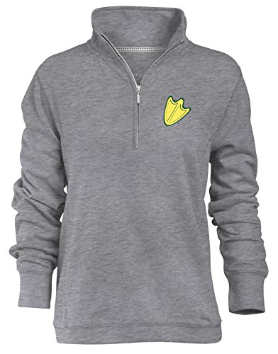 Camp David NCAA Oregon Ducks Relaxed Quarter Zip Pullover, Ath Heather, XX-Large