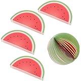 Baoblaze 5 Pcs Fruit Memo Pads Office Supply Sticky Notes Sticker Art-crafting - Watermelon