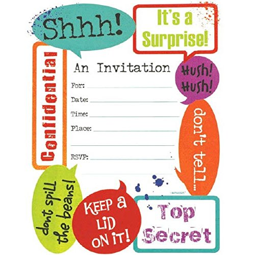 Amscan 493751 Supplies Party Invitations, 6 1/4