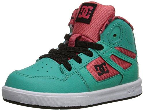 DC Rebound SE UL Skate Shoe (Toddler), Watermelon, 8 M US Toddler