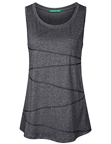 Kimmery Slim Fit Tank Tops for Women, Juniors Fitness Shirts Sleeveless Round...