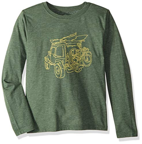 Life is Good Boys Crusher Graphic Long Sleeve T-Shirt Collection,Off-Road,X-Large